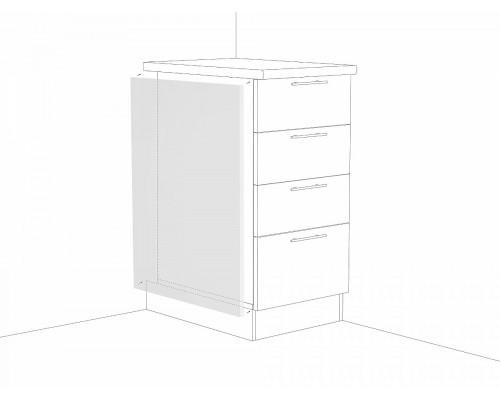 Фасад боковой для нижнего шкафа Белый