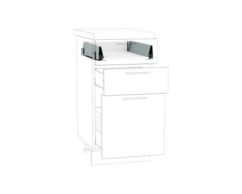 Ящик низкий POWER BOX1 Белый